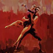 Beautiful Couple Dance 02 Art Print