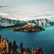 Beautiful Crater Lake Art Print