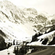 Beautiful Curving Drive Through The Mountains Art Print