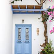 beautiful door Paros Art Print