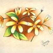 Beautiful Flowers Art Print by Tanmay Singh