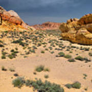 Beautiful Hiking In The Valley Of Fire Art Print