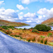 Beautiful Irish Countryside Of County Galway Art Print by Mark E Tisdale