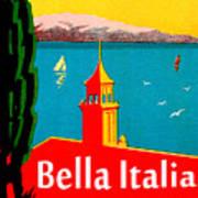 Beautiful Italy, Lake Garda, Riviera Art Print