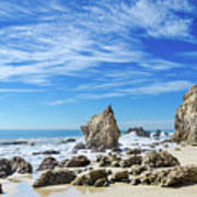 Beautiful Malibu Rocks Art Print