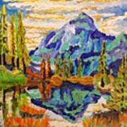Beautiful Mountainous Reflection  Art Print