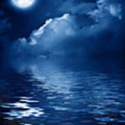 Beautiful Mysterious Moon Art Print