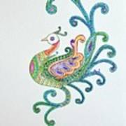 Beautiful Peacock Art Print