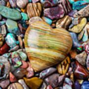 Beautiful Polished Colorful Stones Art Print