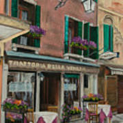 Beautiful Restaurant In Venice Art Print by Charlotte Blanchard