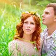 Beautiful Romantic Couple Art Print