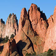 Beautiful Sandstone Spires In Garden Of The Gods Park Art Print