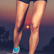 Beautiful Sportive Womens Legs Art Print