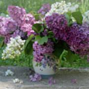 Beautiful Spring Flowers In A Vase Art Print