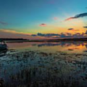 Beautiful Sunset By The Lake Art Print