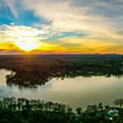 Beautiful Sunset Over Lake Wylie South Carolina Art Print