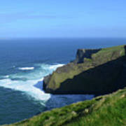 Beautiful Sweeping Views Of Ireland's Cliff's Of Moher Art Print