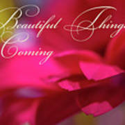 Beautiful Things Are Coming Art Print