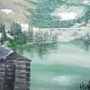Beautiful Water Cabin Art Print
