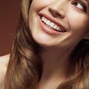 Beautiful Young Smiling Woman Art Print by Oleksiy Maksymenko
