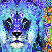 Beauty And The Beast - Lion Art - Sharon Cummings Art Print