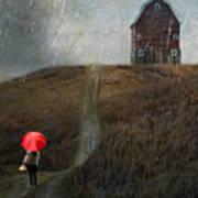 Beauty In The Silver Rain Art Print