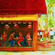Beautys Cafe With Red Awning Art Print