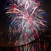 Beaver County Fireworks  Art Print