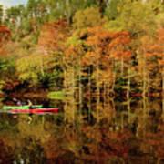Beaver's Bend Canoeing Art Print