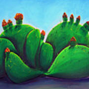 Beavertail Cactus Art Print
