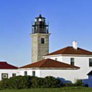 Beavertail Lighthouse Rhode Island Art Print