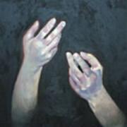 Beckoning Hands Art Print