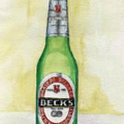 Becks Art Print