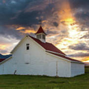Beckwith Ranch At Sunset With Crepuscular Rays And Virga Art Print