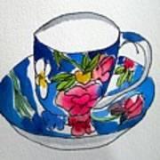 Becky's Teacup Art Print