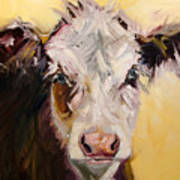 Bed Head Cow Art Print