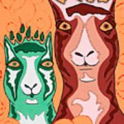 Bedazzled Llamas Art Print