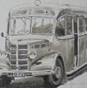 Bedford Ob Coach Of The Forties. Art Print