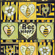 Bee Happy Art Print by Jen Norton