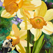 Bee Open By Marilyn Nolan-johnson Art Print