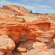 Beehives Above Wash 3 In Valley Of Fire Art Print