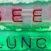 Beer Lunch Art Print