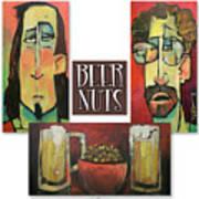 Beer Nuts Art Print