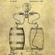 Beer Pump Patent Art Print