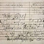 Beethoven Manuscript Art Print