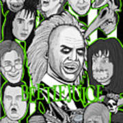 Beetlejuice Tribute Art Print