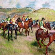 Before The Race Art Print