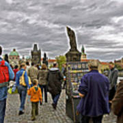 Before The Rain On The Charles Bridge Art Print