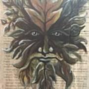 Beguiling Green Man Art Print