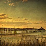 Behind Cherry Grove Pier  Art Print